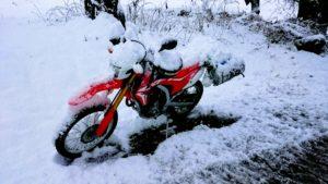 CRFL250L snow touring