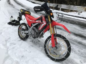 CRF250L snowtouring